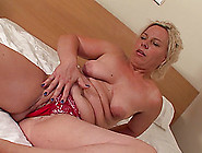Solo Old Babe In A Hotel Room Plays With Her Slick Pussy