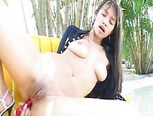 Pretty Latina Pamela Spice Is Masturbating In The Garden