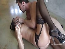 Pornstar Gets First Time Anal In Stockings