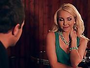 Blonde Woman Was Wearing Her Favorite Tirquoise Dress When She W