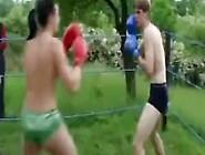 Mixed Garden Boxing Jan Vs. Tiffany Topless Boxing