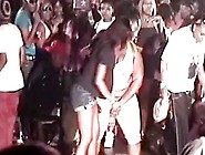 Hot Half Naked Bitch On The Floor At Sex Club