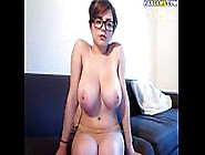 Redhead With Glasses Shows Her Massive Natural Tits Paxcams. Com