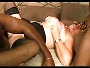 Blonde Milfe Double Penetrated With Black Cocks