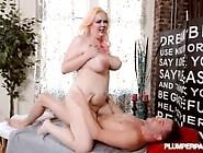 Plump Blonde Babe Suzumi Wilder Gives Massage To Huge Cock