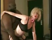 Blonde Granny Gets Her Hairy Cunt Fucked By Black Dude