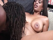 Busty Black Babe Goes In For Some Head And Wet Pussy Pounding
