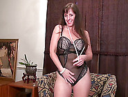Horny Mature Lady Stripping Down And Masturbating Using Adult To