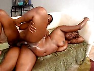 Curvy Black Girl With Huge Ass Has Oiled Up Sex