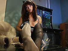 Jessica B Pulls On Her Nylons And Gets Dressed Up For A Fuck Dat