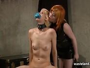 Redhead Lesbian Dominatrix Uses Blonde Sub Girl