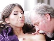 Barefaced Teen Gets Her Young Pussy Banged By Old Guy