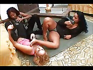 Lesbian Foot Love Brazilian Office 3Some