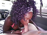 Vickie Starxxx Is Getting Banged In The Back Of A Car And Enjoyi