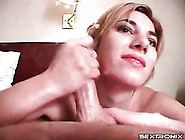 Hotel Room Handjob From A Cute Brunette