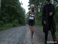 Euro Beauty Gets Tied And Fucked