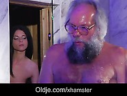 Sweet Teenie Girl Hardcore Fuck Therapy For Ugly Grandpa