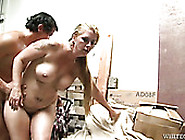 Slightly Chubby Blonde Gets Her Plum Hairy Pussy Rammed Hard