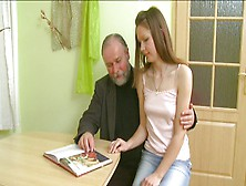 Teen Making Her Grandpa And Boyfriend Very Proud Of Her