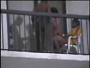 Springbreak Threesome On The Balcony. Avi