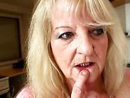Granny Takes A Big Cock For Blowjob