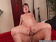 Red Hot Grandma Esmeralda Gets Her Small Tits Covered In Cum