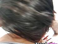 Pretty Dark Haired Latina Alexa Aimes Giving Head