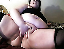 Cute And Playful White Ssbbw Teen Stuffing Her Holes
