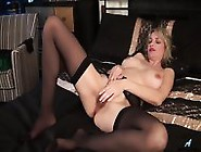 Mommy With Stockings And Hairy Pussy