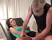 Sporty Latina Teen Kara Mynor Gives An Old Guy A Sloppy Blowjob