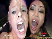 Hot Blonde And Sexy Asian Eat A Lot Of Fresh Cum