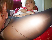 Blonde Is Fucked Asian Through Hole In Pantyhose