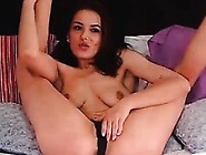 Milf Brunette Masturbating On Arabic Music