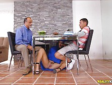 Hot Graduatekeisha Grey Secret Cock Suck Under The Table