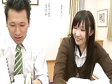 Slutty Japanese Teacher & Maid Motivate College Students With Se