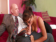 Kinky Older Guy Likes Licking Babe's Feet Before Banging