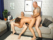 Fat And Ugly Mature Takes On Two Cocks At Once