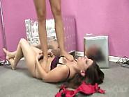 Lesbian Girls Try Trampling