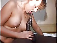 Pierced Blonde Babe Blows Two Studs