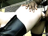 Stacked Blonde With A Sexy Ass Has The Stable Boy Pounding Her S