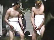 Sumo Wrestlers Pissing