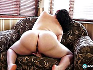 Bbw Slut With Gigantic Tits Tries Out Her New Transparent Dildo