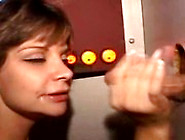 Brunette Amateur Girl Milking Cock At A Glory Hole