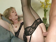 Lustful Granny In Sexy Lingerie Nailed Deep In Her Cunt