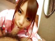 Pink Uniform Japanese Suzu Cum Swallow Gokkun