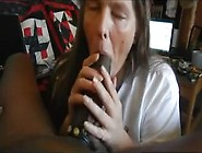 Amateur Mature Wife Sucking Big-Black Cock