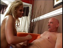 Hot Blonde Smokes A Cigarette And Gives Amazing Handjob Video