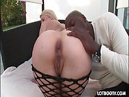 Big Booty Blonde Anal Fucked By Big Black Cock
