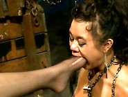 Annie Cruz Sucks On The Toes Of Bobbi Starr
