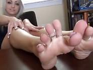 Beautiful Blond Britt Perfect Feet Joi Foot Tease. Mp4